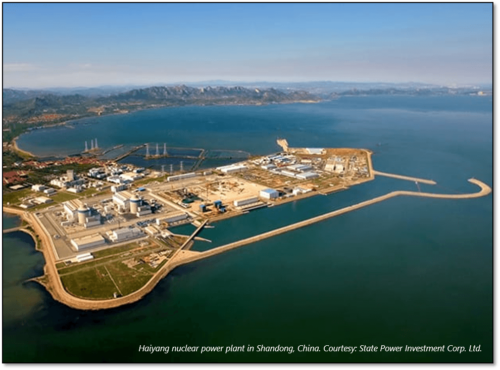 Haiyang nuclear power plant in Shandong, China. Courtesy: State Power Investment Corp. Ltd.