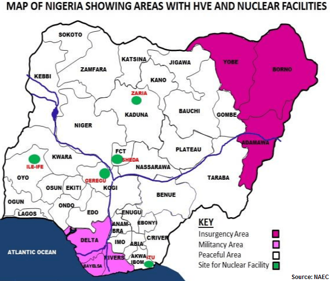 Nigeria Areas With Nuclear